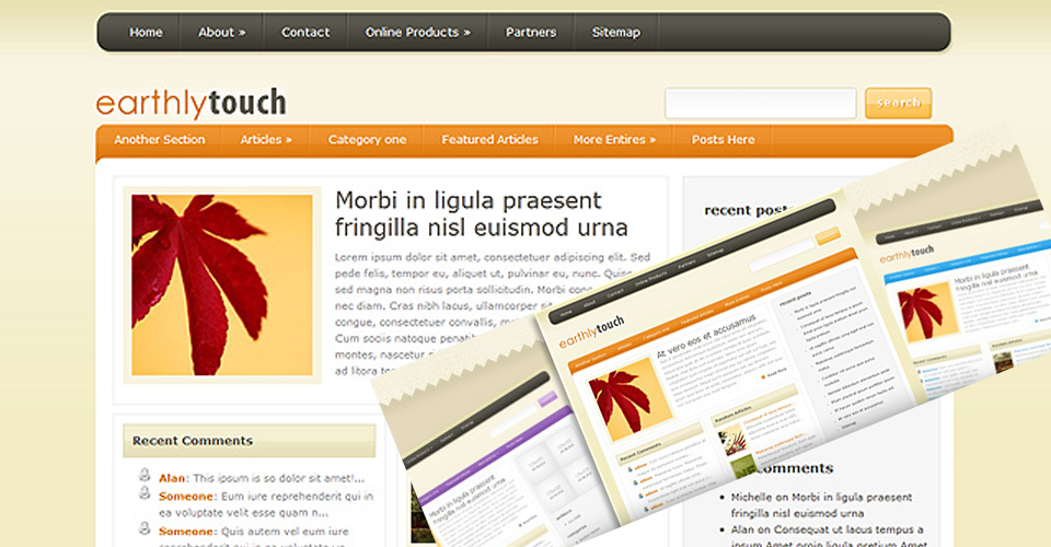Tema Wordpress EarthlyTouch - Elegante Templates