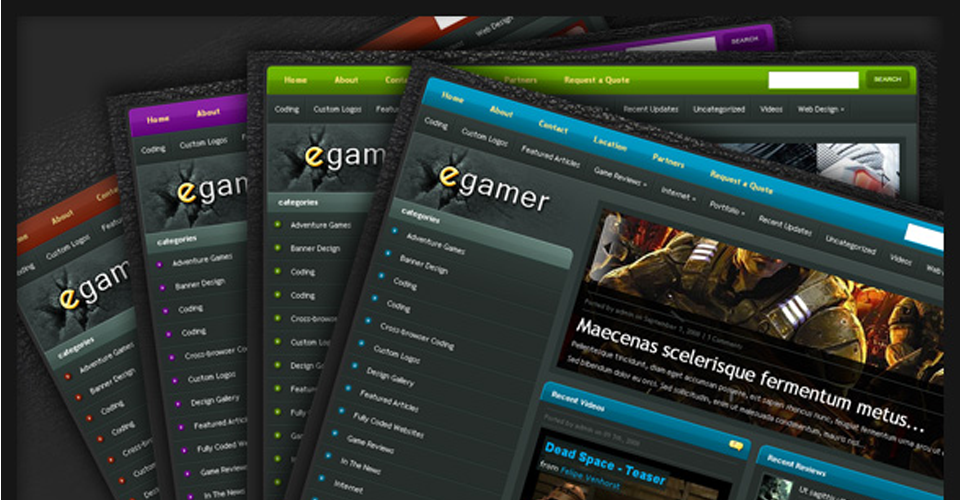 Tema Wordpress eGamer - Elegante Templates