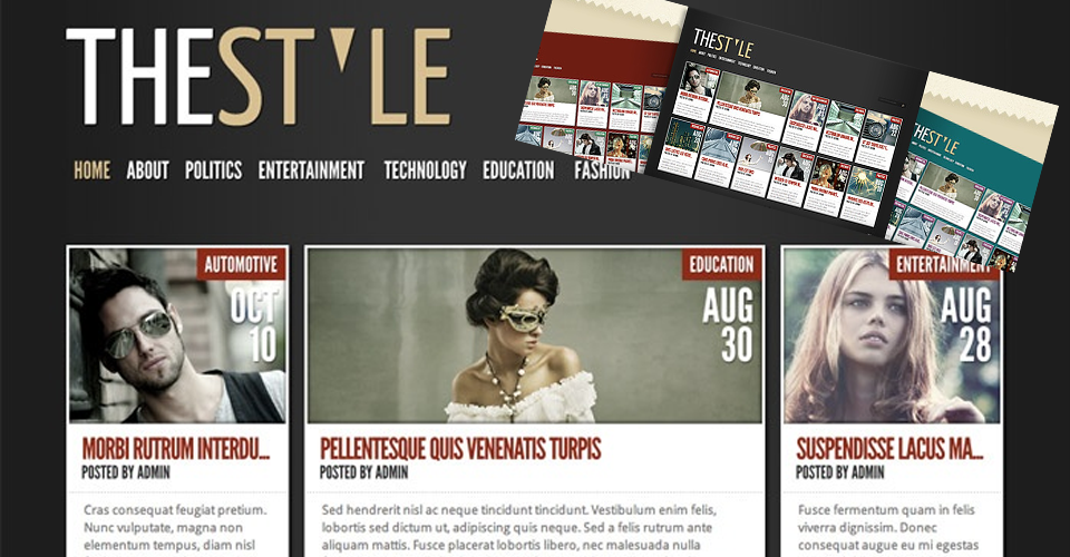 Tema Wordpress The Style - Elegante Templates