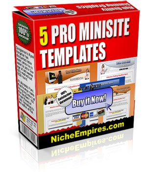 5 Templates Mini Sites Completos