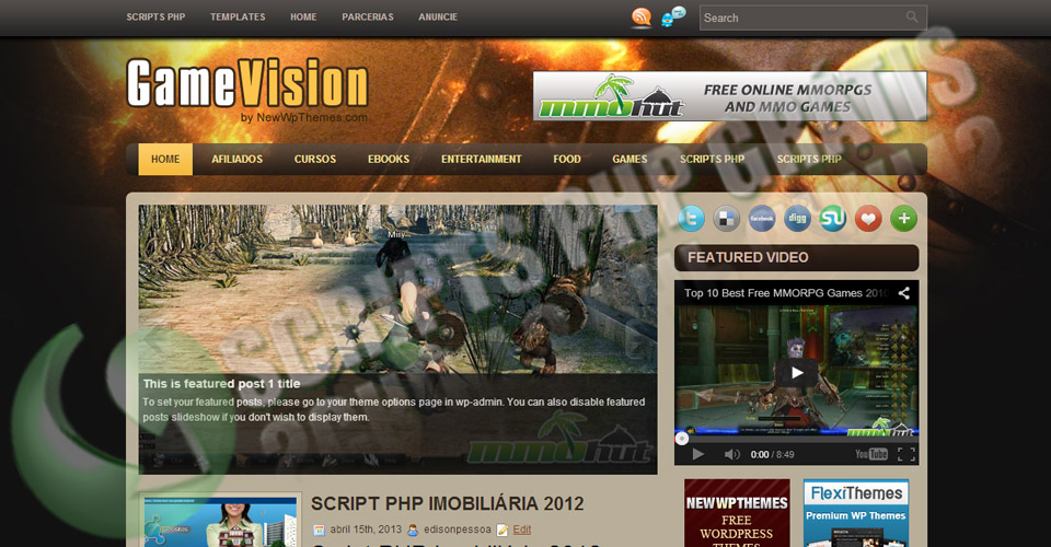 Template WordPress Gamevision